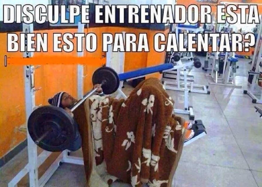 Calentando en el gym